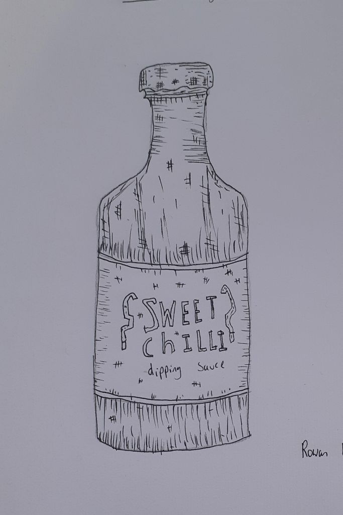 sweet chilli line drawing